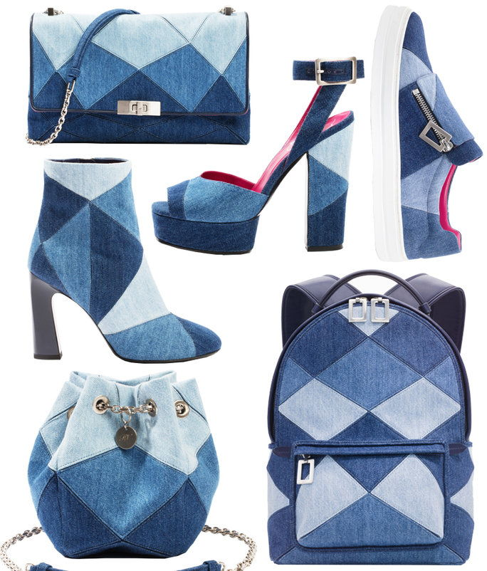 Camille Seydoux's Roger Vivier Denim Accessories
