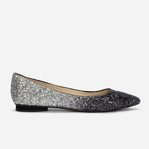 Charles & Keith glitter flats