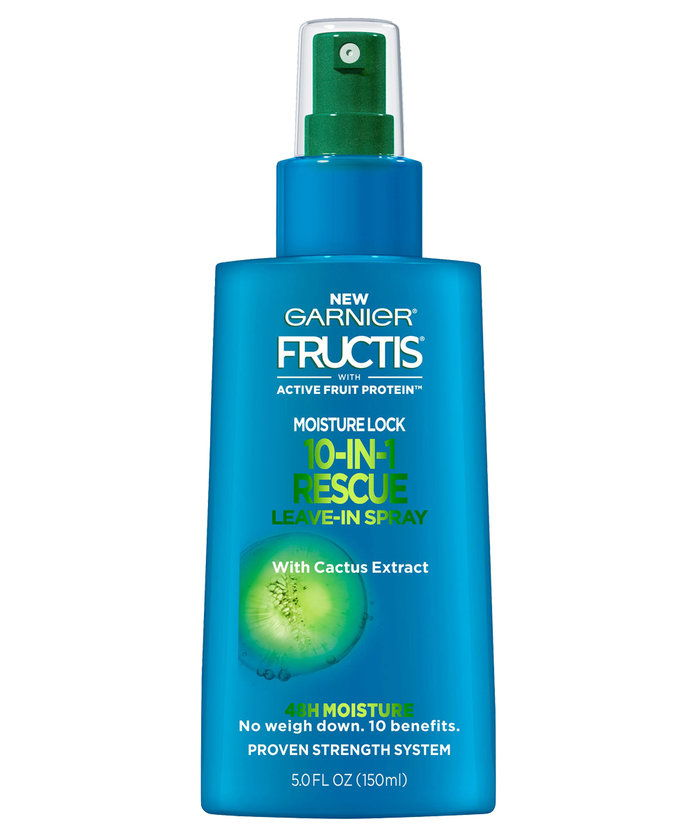 Garnier Fructis with Active Fruit Protein Moisture Lock 10 in 1 Rescue Leave-In Spray with Cactus Extract