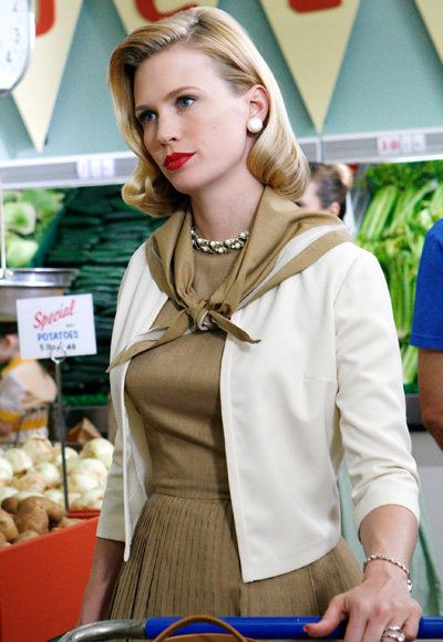 január Jones - The Most Fashionable TV Housewives - Mad Men
