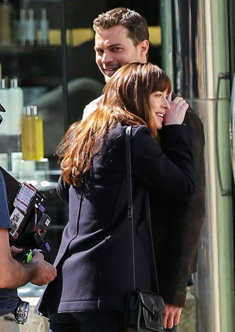 Dakota Johnson and Jamie Dornan - 'Fifty Shades Darker' in Vancouver, Canada - 04/04/2016