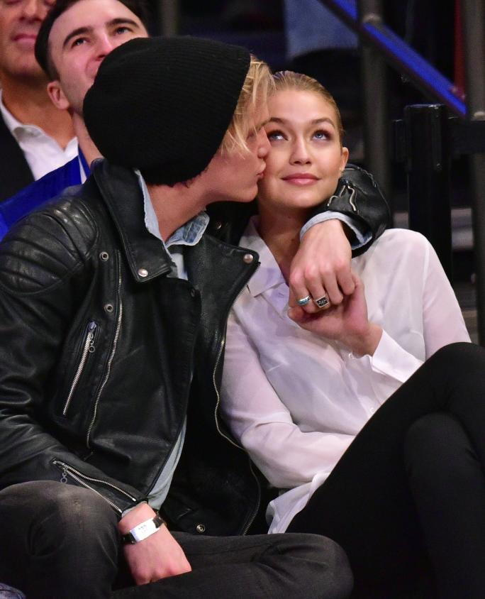 celebrity Attend Brooklyn Nets Vs New York Knicks Game - April 01, 2015