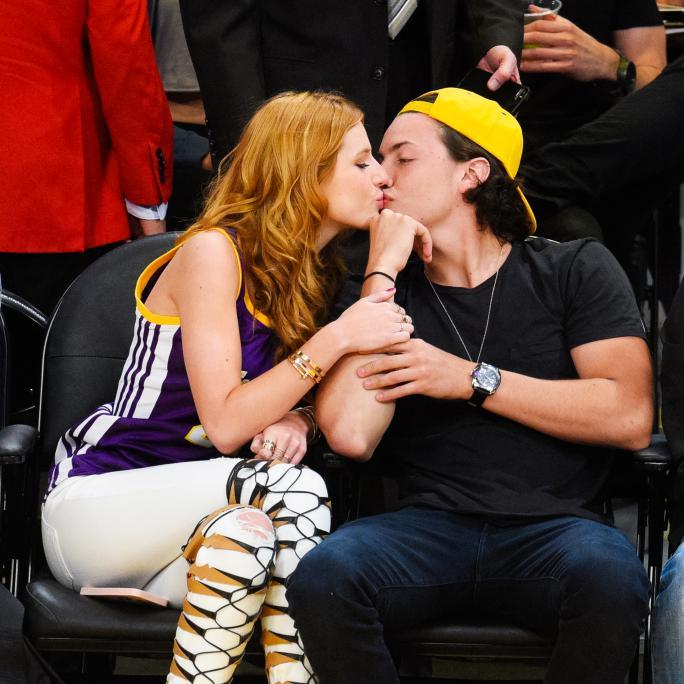 celebrity At The Los Angeles Lakers Game