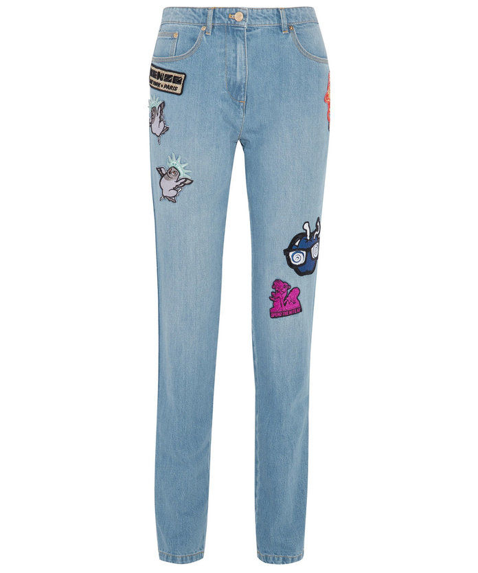 Il slim boyfriend jean with some cheeky accents.