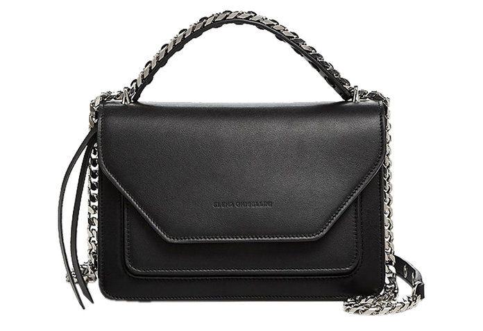 Gerhana Flap Leather Shoulder Bag