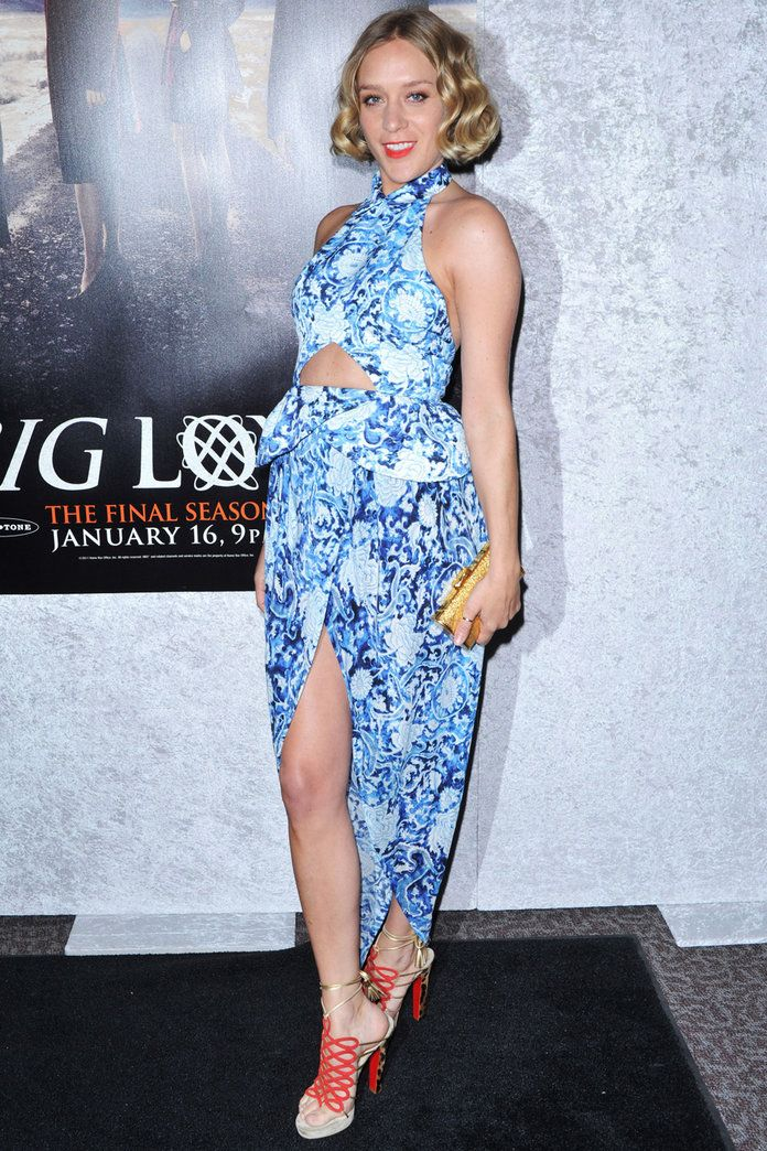 In Rodarte at the Big Love première in L.A., 2011