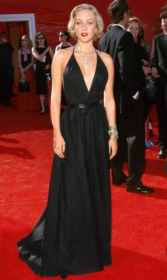 In Yves Saint Laurent Rive Gauche at the Academy Awards in L.A., 2000