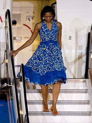 Michelle Obama in Tracy Reese and Monica Pean - Michelle Obama Style Diary