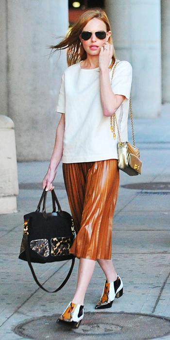 Kate Bosworth with Longchamp