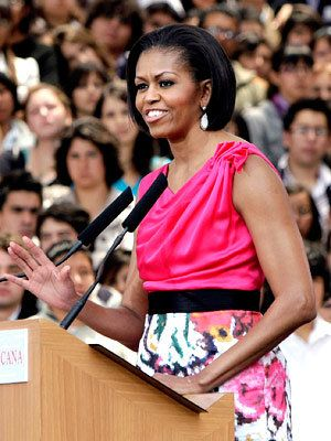 Michelle Obama Style Diary - Michelle Obama in Rachel Roy