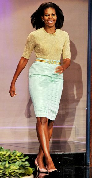 Elegante Summer Work Looks - Michelle Obama - Michael Kors - J. Crew
