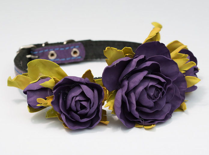 Viola Rose Flower Collar