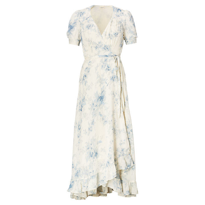 Stampa floreale Gauze Wrap Dress