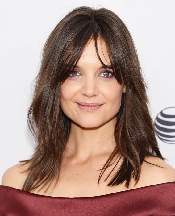 katie Holmes with bangs