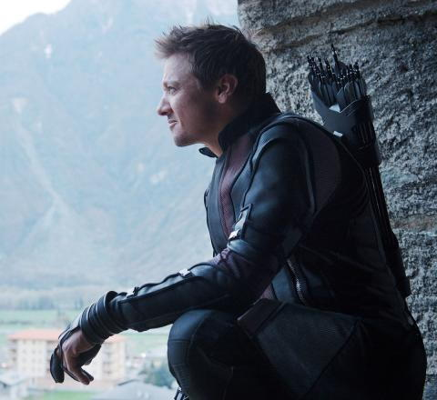 AVENGERS: AGE OF ULTRON, Jeremy Renner as Hawkeye/Clint Barton, 2015. ph: Jay Maidment / © Walt