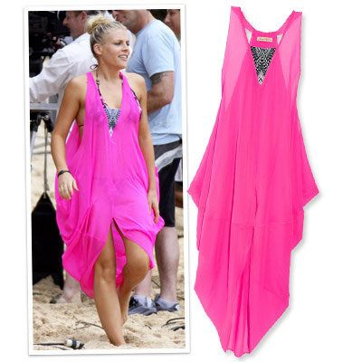 occupato phillips - mara hoffman - pink - beach cover ups
