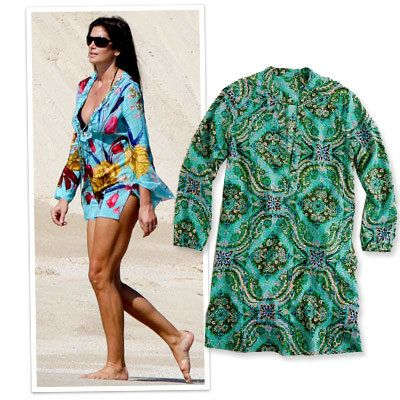 Spiaggia - j. crew - cover up - cindy crawford