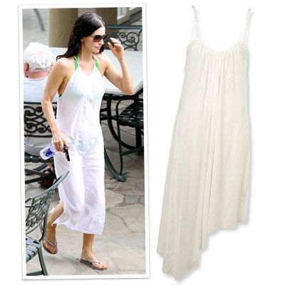 Topshop - courtney cox - beach cover ups - white - dress