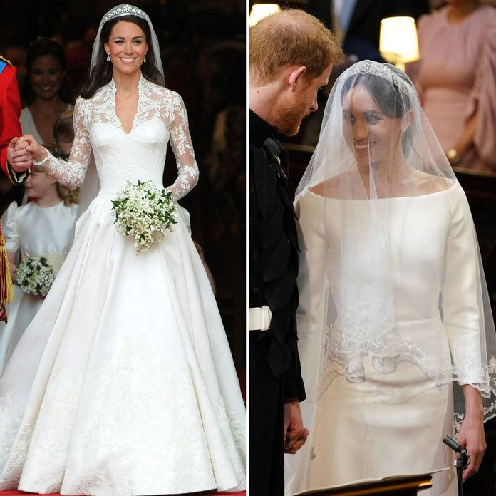 Kate Middleton Meghan Markle Wedding Dresses - Embed