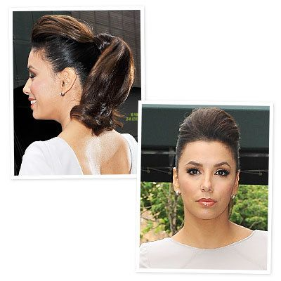 Eva Longoria's Bumped-Up Ponytail