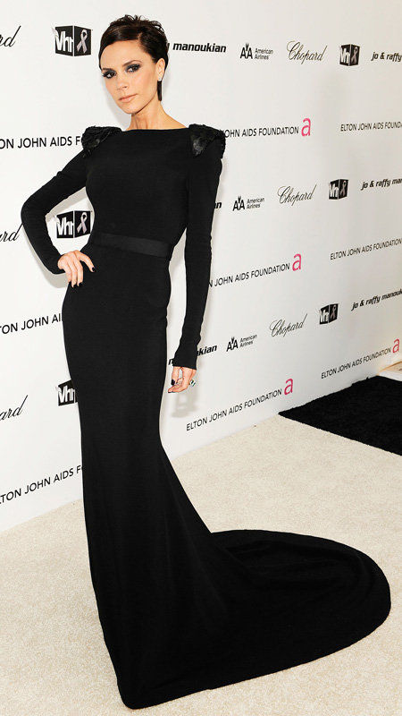 Vittoria Beckham arrives at the 17th Annual Elton John AIDS Foundation Oscar party