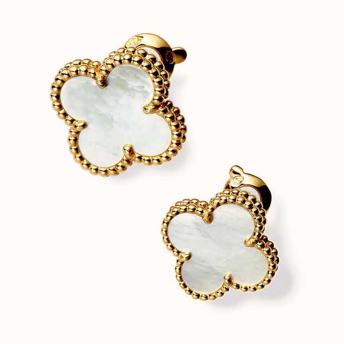VAN CLEEF & ARPELS VINTAGE ALHAMBRA EARRINGS