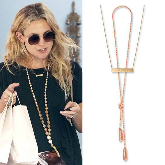 kate Hudson wearing layered necklaces