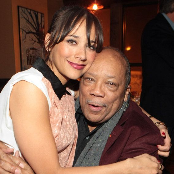Rashida and Quincy Jones
