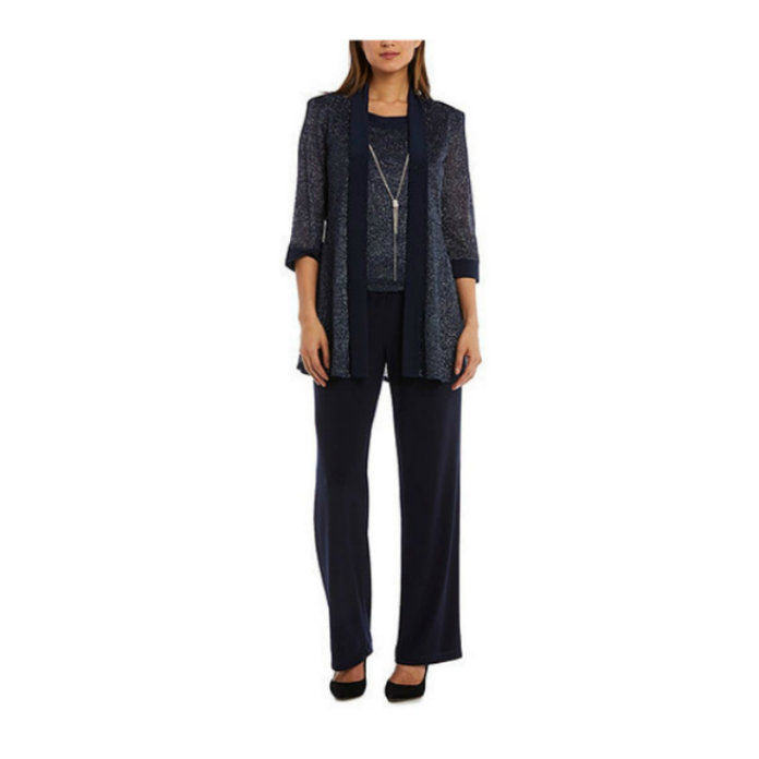 2-Piece Metallic Pant Suit