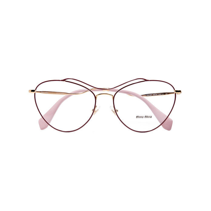 Burgundy Thin Metal Frame