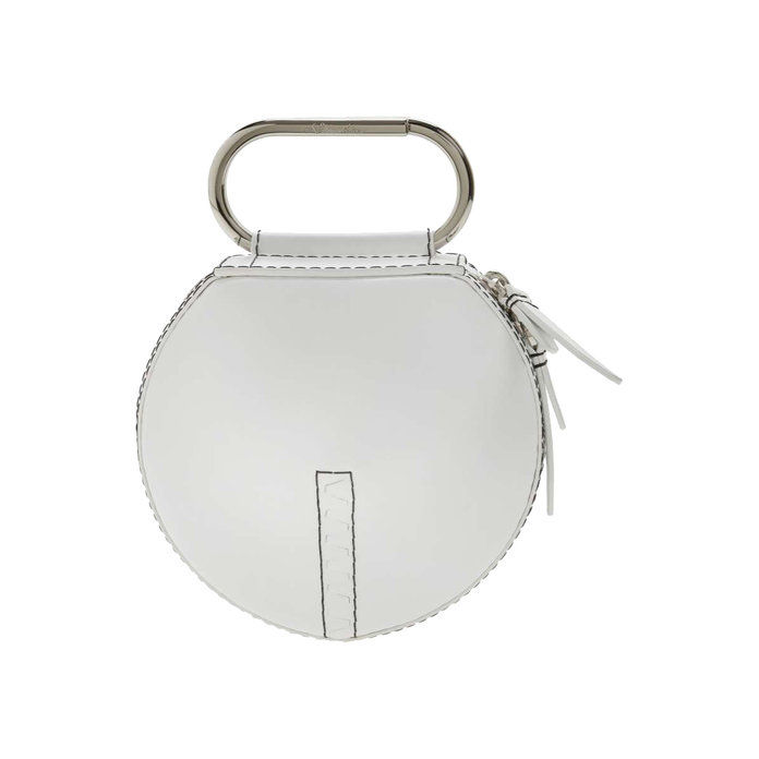 Alix Leather Circle Clutch
