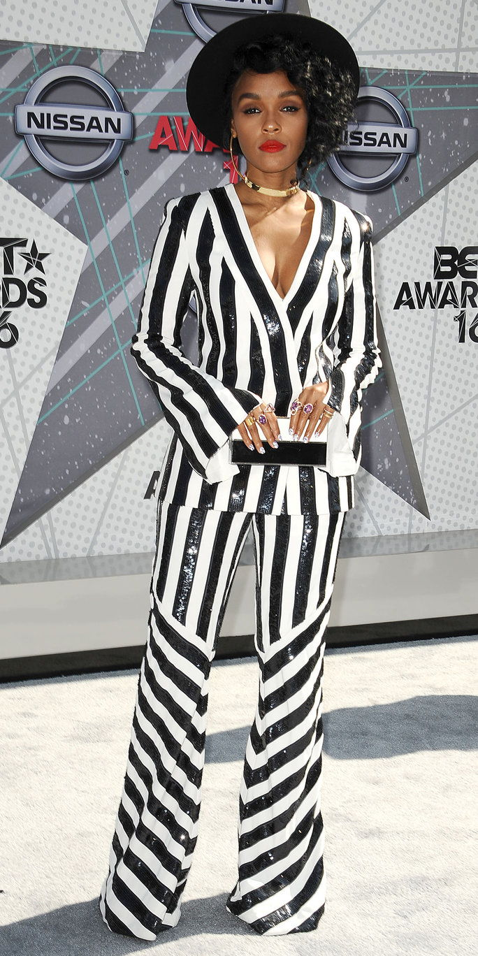 LOS ANGELES, CA - JUNE 26: Janelle Monae attends the 2016 BET Awards at Microsoft Theater on June 26, 2016 in Los Angeles, California. (Photo by Jason LaVeris/FilmMagic)