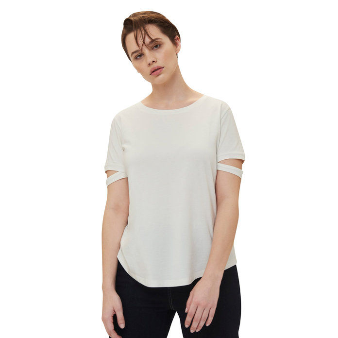 spaccato Sleeve Tee