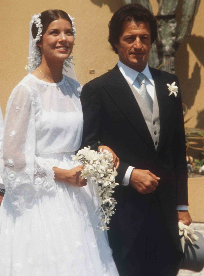 princezná Caroline and Philippe Junot of Monaco