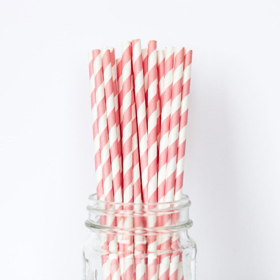 LUCE PINK STRIPED STRAWS