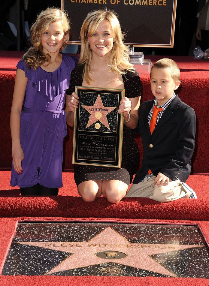 Reese, Ava, and Deacon on the Hollywood Walk of Fame