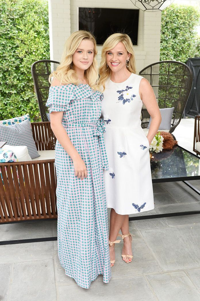 Reese and Ava in Spring Dresses
