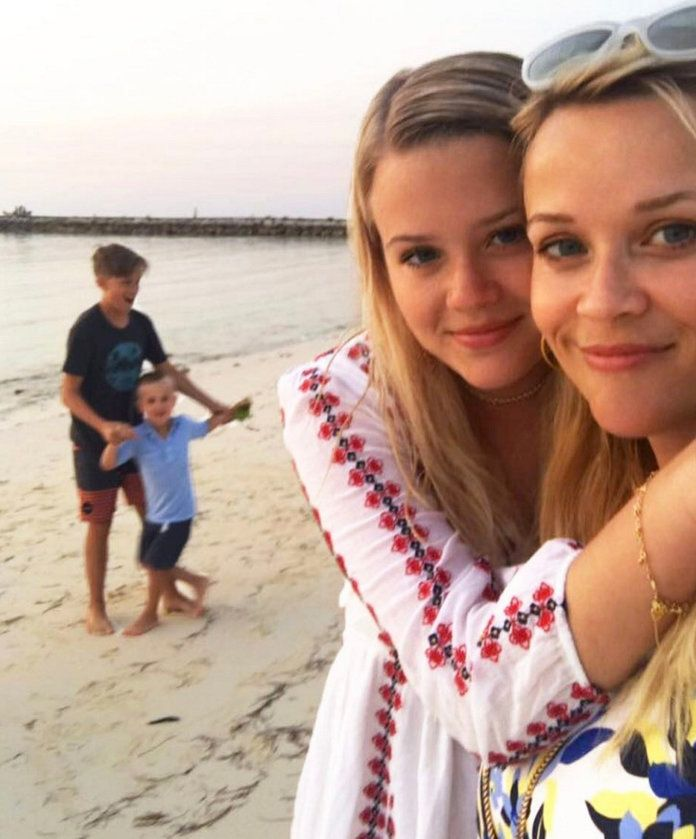 Reese and Her Kids on the Beach