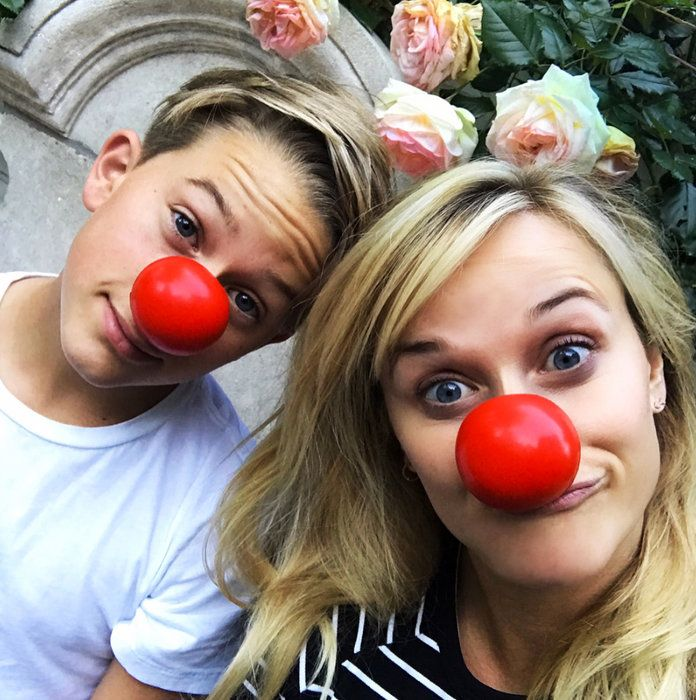 Reese and Deacon Celebrate Red Nose Day