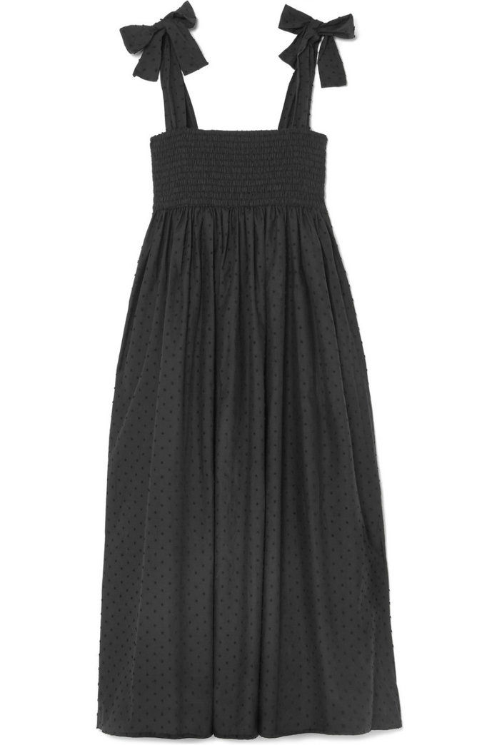 SWISS-DOT COTTON MIDI DRESS