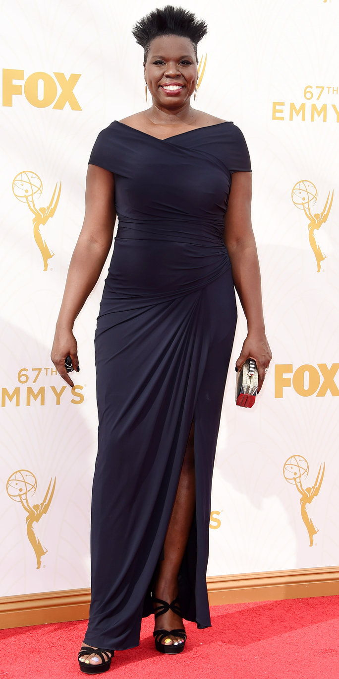Leslie Jones at the 2015 Emmy Awards
