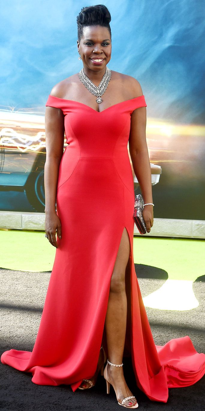 Leslie Jones at the Ghostbusters movie premiere in Los Angeles, California