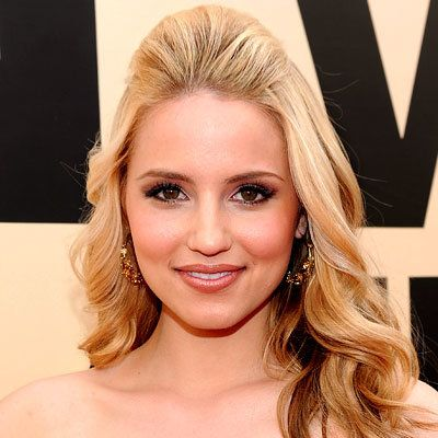 Dianna Agron - Romantic Half Up Do - Top 10 Party Hairstyles of 2010