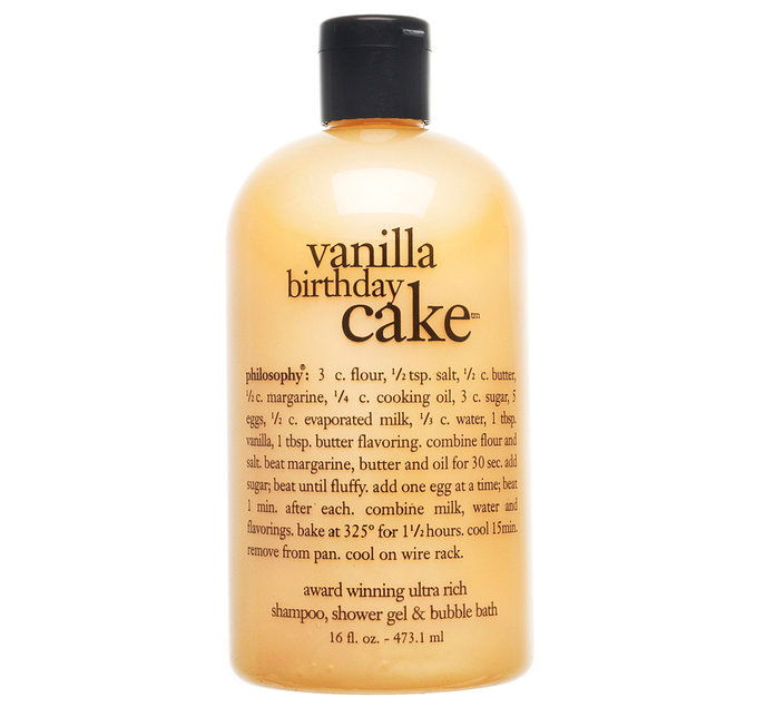 Falsafah Vanilla Birthday Cake Shampoo, Shower Gel & Bubble Bath