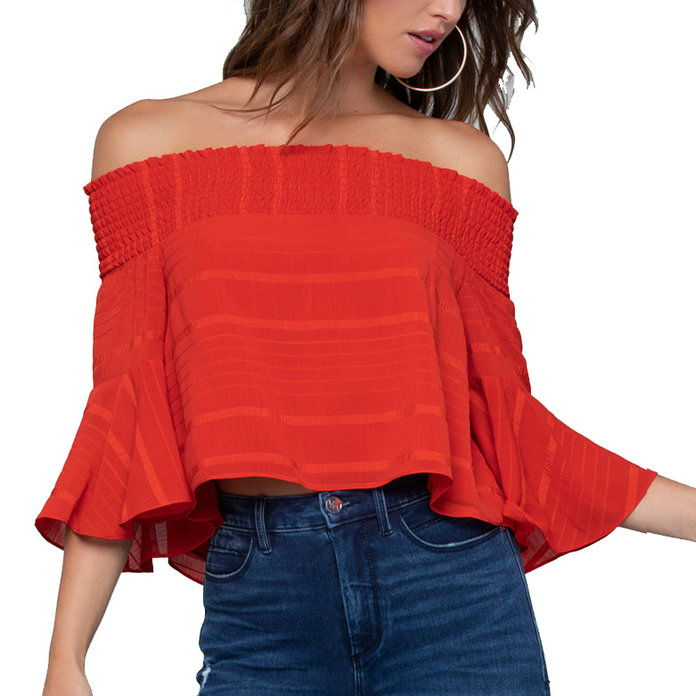 ONU smocked top is perfect for the season