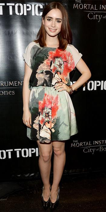 Lily Collins in Sachin + Babi