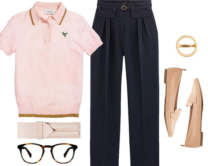 RETRO POLO + MENSWEAR INSPIRED TROUSERS = GEEK CHIC