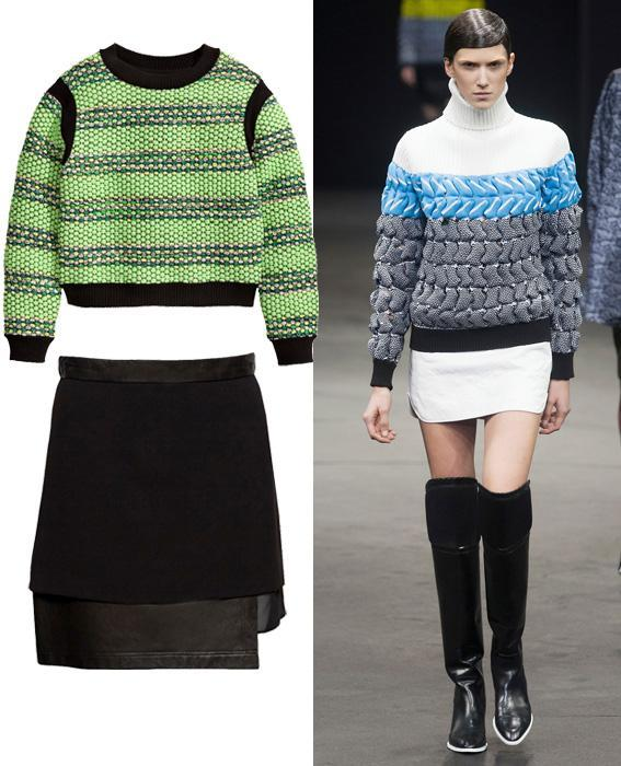 Skirt sweater combos: Alexander Wang