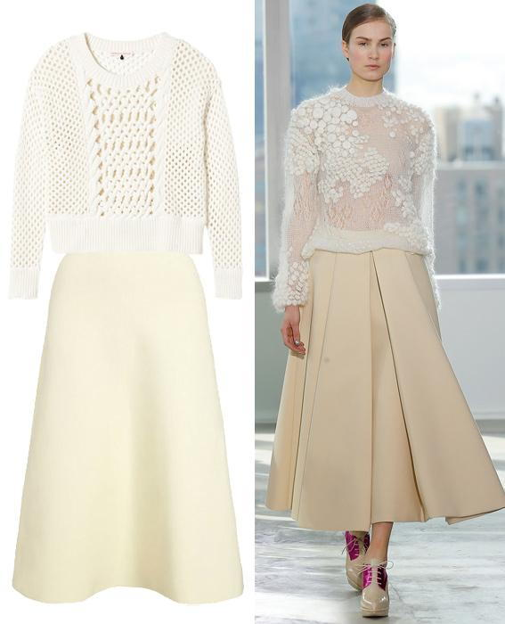 Skirt sweater combos: Delpozo