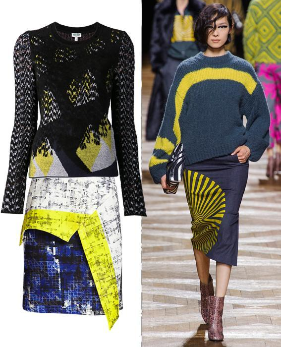 Skirt sweater combos: Dries Van Noten